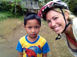The little boy from the home we visited.  He would smile up until I took the photo; this was attempt #3.
