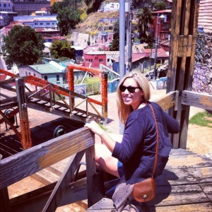 in my element in Valparaiso, Chile