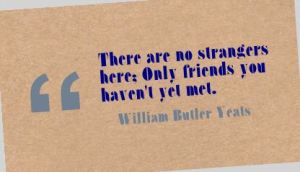 Come on people of Perth, listen to Yeats; be my friend.