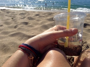 Wine in a sippy cup is not an unacceptable beach beverage either...