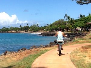 there's a convenient bike/running path from Lahaina to Kaanapali as well, so no fighting traffic!